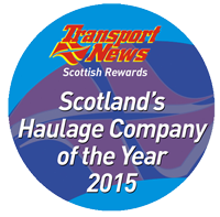 Scotland's Haulage Company of the Year 2015  - click here to read more about this award
