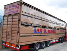 Fresh from the washbay! Livestock trucks are subject to scrupulous levels of cleanliness.  Houghton Parkhouse livestock trailers are the preferred choice at Newton of Forgie