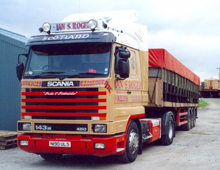 This Scania 143M Streamline was one of many carefully selected second hand purchases by the family