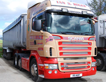 Bulk Commodities trans Scania R500 at Forgieside Depot
